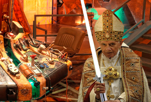 Pope-Benedict-In-Tardis-with-Lightsaber2